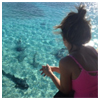 Shania in Miami with Sharks